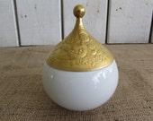 Rosenthal-Bjorn Wiinblad-Magic Flute Sarastro Gold Gilt Covered Sugar Bowl, Rosenthal Sugar Bowl Gilt Lid, Rosenthal