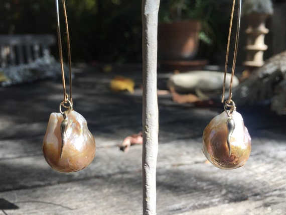 Pearl And Gold Drop Earrings