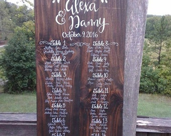 Wood Wedding Seating Chart Made to Order Any Way You Like