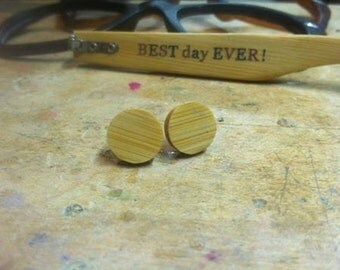 Bamboo Earrings made from Recycled Bamboo Sunglasses