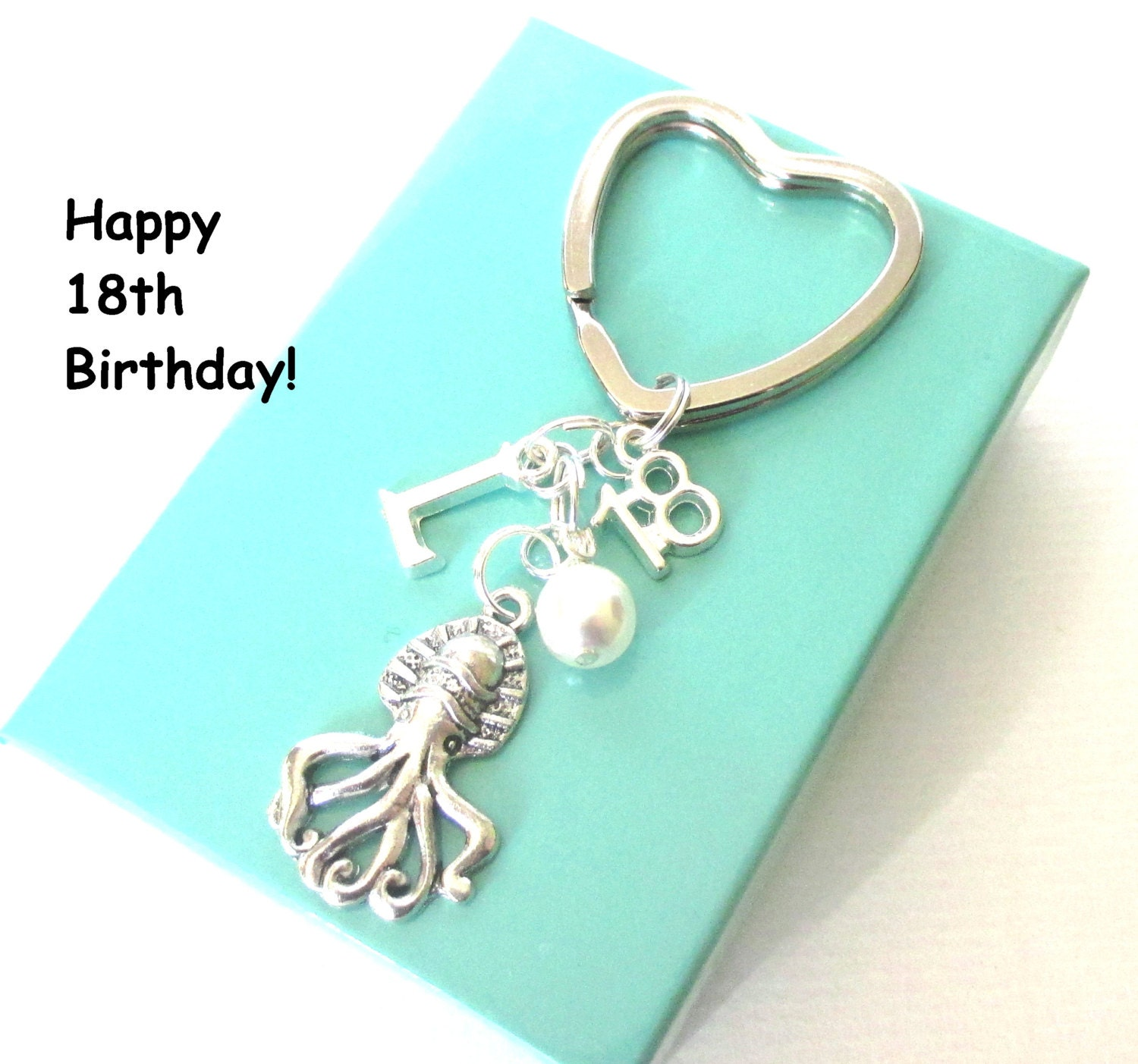 Keychains Circuit Board Glass Pendant Photo Necklace Keychain 18th Gift Octopus Keyring Personalised Birthday With