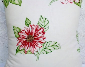 Jane Churchill Cushion ODETTE Floral Pink Shabby Chic Pillow Coussin Cover