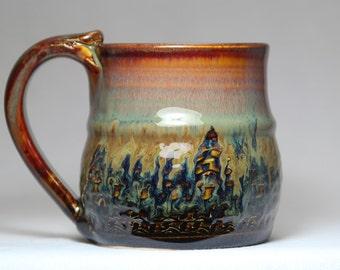 10oz stoneware pottery mug