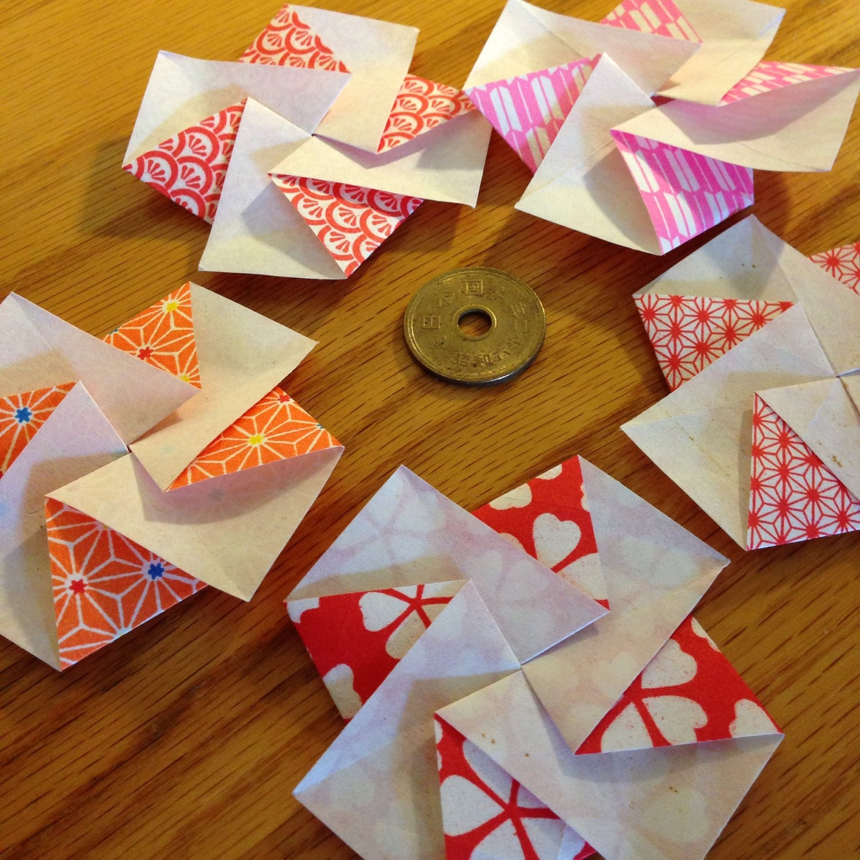 f nf japaner blume bl te tato origami briefumschl ge oder. Black Bedroom Furniture Sets. Home Design Ideas