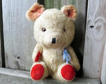 Vintage Teddy Bear Scruffy old worn Teddy Bear made in Japan