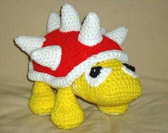 Spiny beetle pattern - geekery crochet beetle amigurumi toy pattern - crochet spiky doll pattern PDF instant download