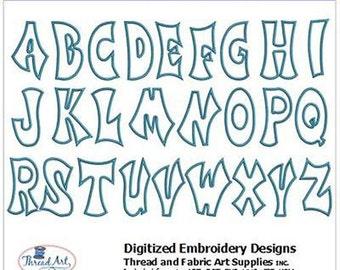 Embroidery Design CD - Wild Alphabet (1) - 26 Designs - 9 Formats - Threadart