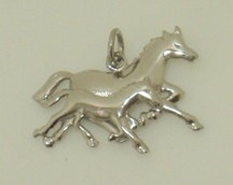 Double Running Horse Charm (JC-970)