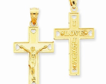 Solid Crucifix Pendant (D3610)