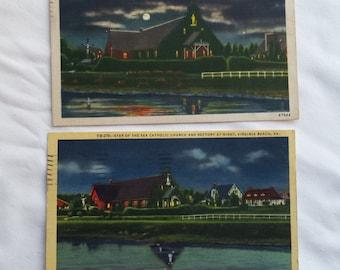 1953 Virginia Postcards Set of 2