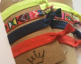 Aztec Print hair ties