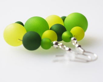 earrings green polaris