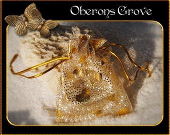 20 Organza bags silver-gold 6x8cm