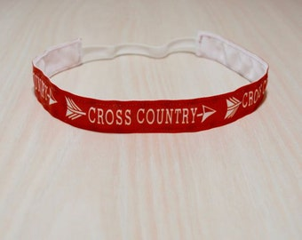 Non-Slip Headband - Cross Country, Running, Red