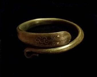 Victorian Snake Bracelet Carved from Horn
