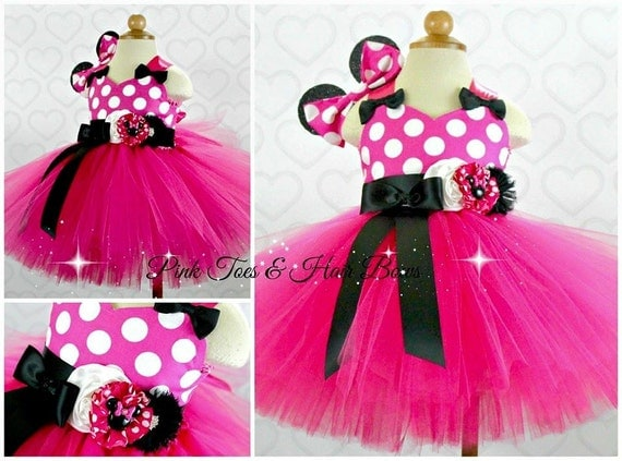Hot Pink Minnie Mouse Tutu Dress Pink Minnie Mouse Tulle