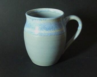 Blue marble handmade ceramic mug