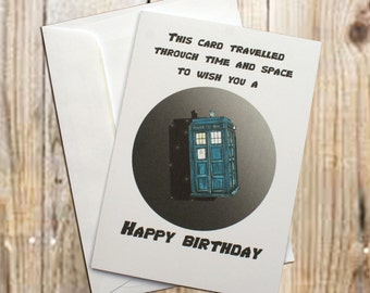 Through time and space birthday card