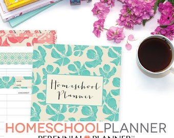 Homeschool Planner Editable Digital Printables, 19 Documents, 123 Pages 2017-2018 Lesson Plan, Book Report, Teacher Gift, Mothers Day Gift
