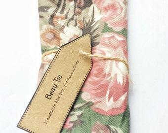 Floral pocket square, mens pocket square, pink pocket square, wedding pocket square, mens handkerchief