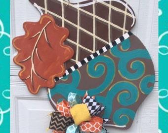 Fall Acorn Door Hanger Sign