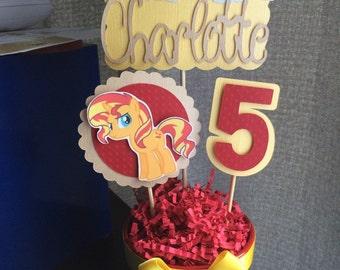 My Little Pony 'Sunset Shimmer' Inspired Centerpiece STICKS ONLY