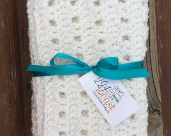 Baby Blanket, White Baby Blanket, Mini Blanket in White, Baby, Photo Prop, Photography Prop