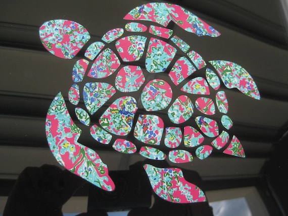 Sea Turtle Decal Monogram Sea Turtle Decal Pattern Sea