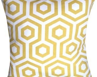 Designer retro Mustard Yellow geometric scandinavian luxury new pattern funky cushion cover
