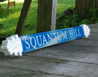 Nantucket Quarterboard Custom  House Signs with Decorative Ends