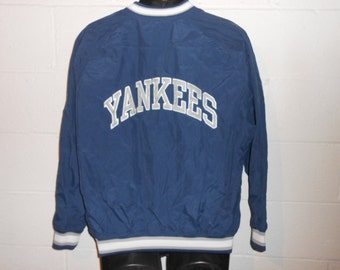 Vintage 90s Starter NY New York Yankees Pullover Windbreaker Jacket Coat Sz S