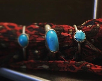 Daydreams - Turquoise Ring (right) Size 6.5