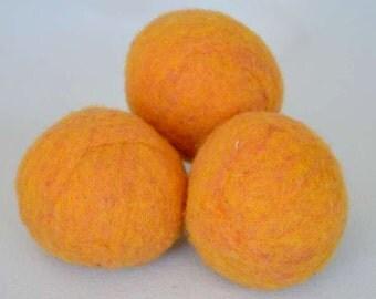 XL Wool Laundry Balls - Canadian Wool - Okanagan Sunset Dryer Balls
