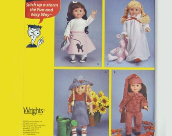 American Girl Patterns 18 Inch Doll Clothes Sewing Patterns Simplicity 7069 UNCUT OOP American Girl Doll Clothes Sewing Patterns for Dummies