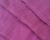 Plum Shimmer Silk Ribbon by the metre. Upcycled Dupioni Silk Selvedge Offcut Fabric, Crisp, Slubby, Wide Dusky Purple Sari Silk Ribbon Yarn