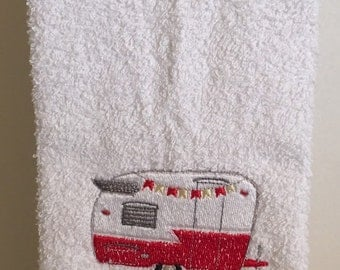 Embroidered ~CAMPER~ Camping Kitchen Bath Hand Towel