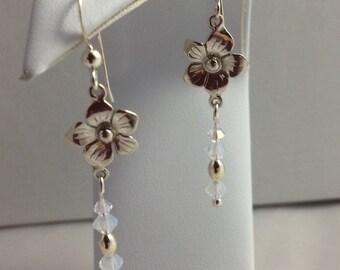 Sterling Silver Flora Earrings