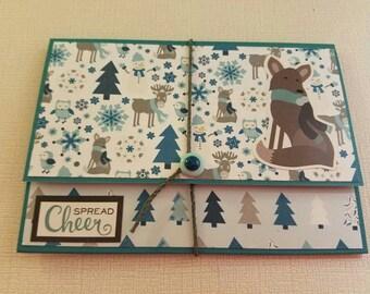 Homemade tri-fold Holiday Card