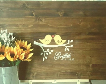 Guestbook/Wood sign/Wedding guestbook