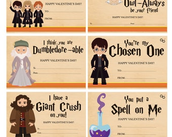 Harry Potter Valentines - Harry Potter Valentine Cards - Digital File