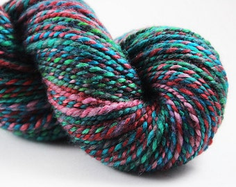 Handspun Yarn - Worsted Weight 2ply - BFL: Go Go Grabby Hands