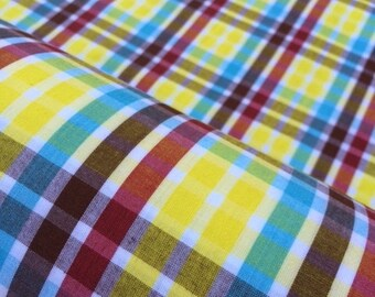 Pinpoint Oxford in Fiesta Plaid -Yellow