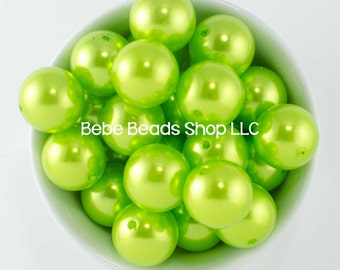 20mm Pearl - Lime