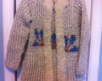 woolly jacket with native design