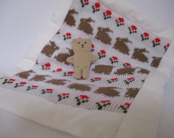Doll's quilt and teddy