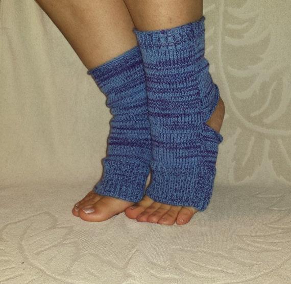 Knitting Patterns Heel Less Socks : YOGA Socks Knitted Toe Heel Less Socks PILATES SPA Socks