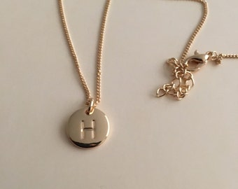 H Stamped Letter Charm