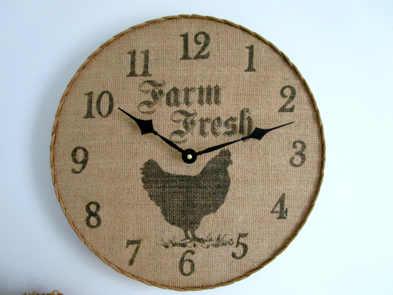 Farmhouse Wall Clock 14 Wood Clock by GoldenDaysDesigns