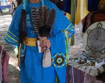 Women's southern cloth REGALIA DRESS native American powwow and ceremony.