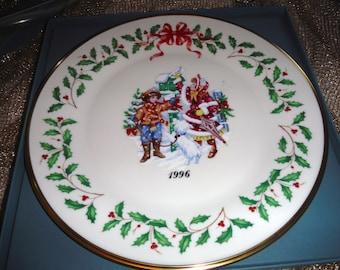BIG SALE LENOX Christmas Holiday Annual Christmas Plates 1996 6th of series